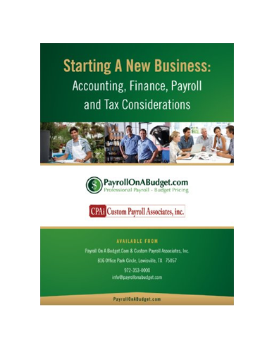 Starting a New Business: Accounting, Finance, Payroll and Tax Considerations by Charles Read